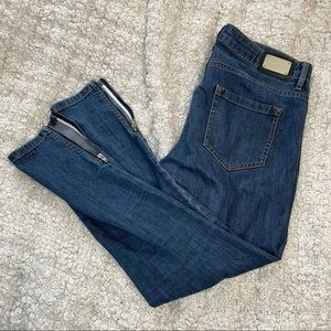 Ports Skinny Denim Jeans with Zippers on Ankles